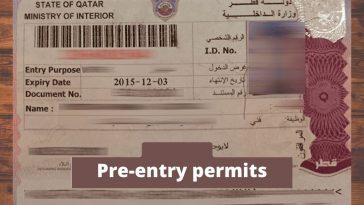Pre-entry permits