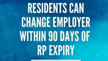 Residents can Change Employer Within 90 Days of RP Expiry